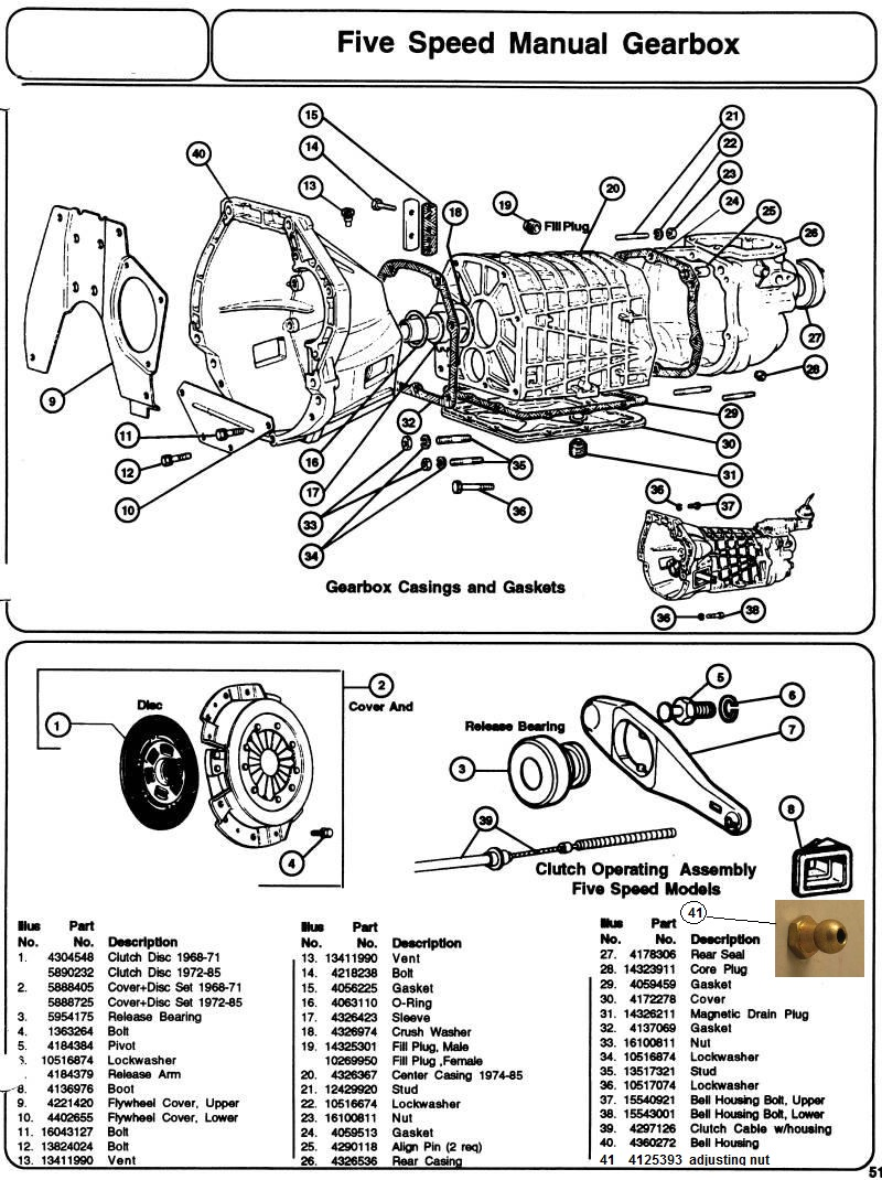 Fiat Spider Transmission Manual Clutch Diagram 1 Exploded View Of The